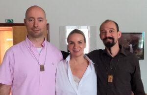 Stjepan Domančić, Martyna Žvegelj und Lutz Larm